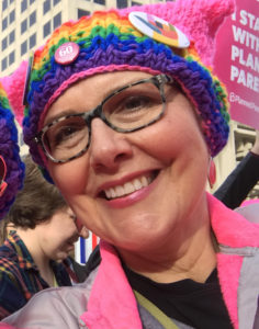 At the Indianapolis women's rally on January 21, 2017